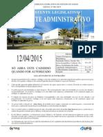 Cs Ufg 2015 Al Go Assistente Legislativo Assistente Administrativo Prova