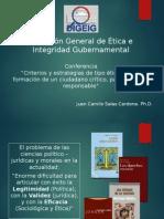 """Conferencia """"Ética Pública, Política y Ciudadanía"""" por Dr.Camilo Salas"""
