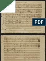 Schubert - Cora an Die Sonne - Autograph