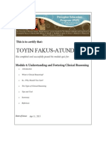 certificate for m4-understanding-and-fostering-clinical-reasoning 2015 04 11