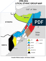 Somali Political Map 2015