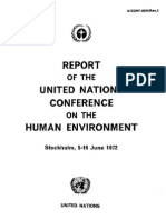 Report of Un of Human Environment