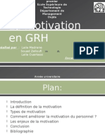 La Motivation en GRH
