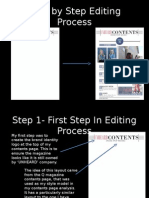 Contents Page Step by Step Editing Process