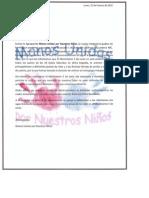 Carta Manos Unidas