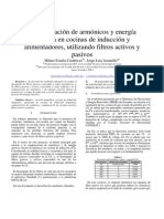 Compensación de armónicos y energía reactiva en cocinas de inducción y alimentadores, utilizando filtros activos y pasivos