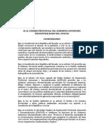 Ordenanza Que Crea La Comisaria Provincial de Ambiente - Gpg