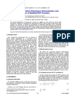 Relativity of Electric Field to Resonance Characteristics and Piezoelectric Constants of Modified PZT Ceramics