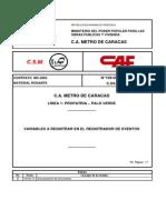 Variables a Registrar en El Registrador de Ev