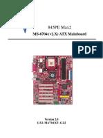MS-6704 (v2.X) ATX Mainboard