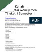 Materi Kuliah Pengantar Menejemen Tingkat 1 Semester 1
