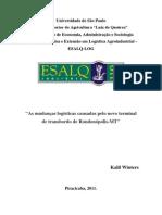 As Mudanças Logísticas Causadas Pelo Novo Terminal de Transborno de Rondonópolis-MT