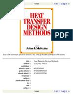 Heat Transfer Design Methods by John Mc Ketta