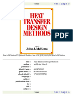 Heat Transfer Design Methods by John Mc Ketta