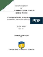 Project Report on Branding Strategies of Samsung Mobile Phones