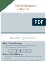 Portfolio Performance Evaluation