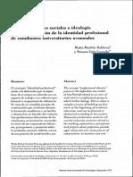 Representaciones Sociales e Ideología en La Constrncción de La Identidad Profesional