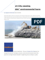 Colombo Port City Causing Unimaginable Environmental Harm