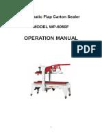 WP-5050F Carton Sealer English Manual