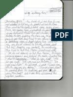 handwritten journal notes 1 of 3