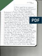 handwritten journal notes 2 of 3