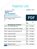 Mech Project List.docx