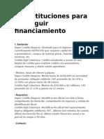 10 Instituciones Para Conseguir Financiamiento