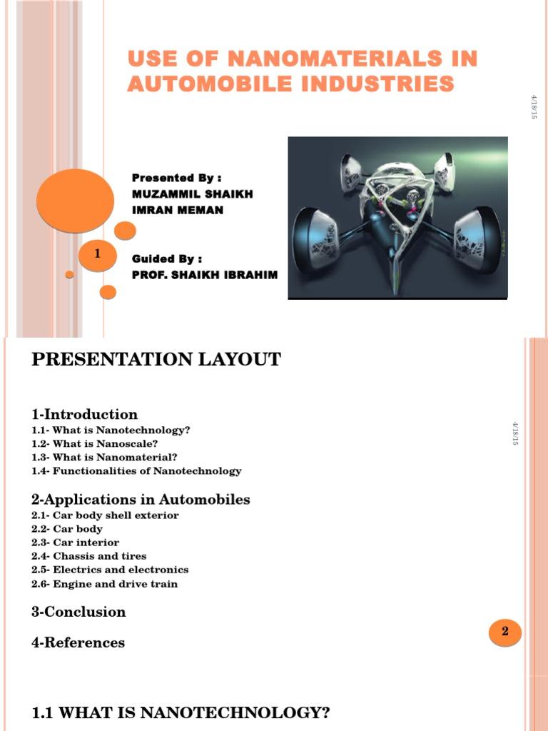 Nanotechnology ppt presentation