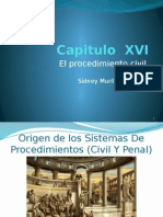 Capitulo XVI proceso civil