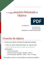 ClasePOO CreacionObjetos Constantes I2015