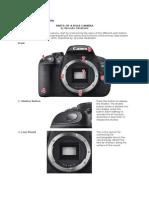 Parts of a DSLR Camera
