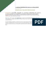 Salariatii Angajati Cu Contract Individual de Munca Cu Timp Partial
