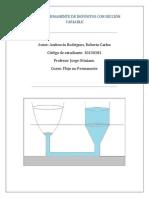 Monografía, Flujo No Permanente de Depósitos Con Sección Variable