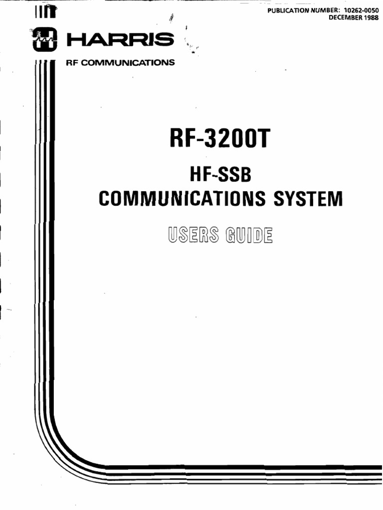 Harris RF-3200T Users Guide