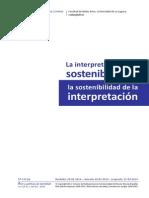 Ramón Salas La interpretación de la sostenibilidad y la sostenibilidad de la interpretación