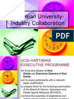 Malaysian University Industry Collaboration Ppt