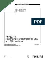 pcf5077t controller de putere pentru amplificatorul final