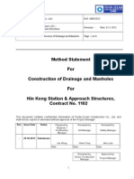 Method Statement for Construction of Drainage and Manholes