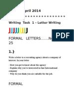 Ielts Formal Letters