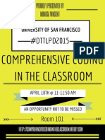 final skill step doc comprehensive coding in the classroom dttlpd2015