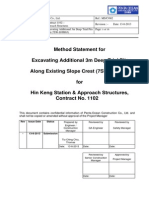 Method Statement for Excavating Additional 3m Deep Trial Pits (2013!08!13)