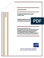 ED SPA 300 - Perencanaan Suatu Audit Atas Laporan Keuangan