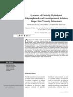 Partially hydropolyacrylamide