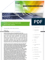 Prinsip Kerja Solar Panel Atau Photovoltaic Sistem