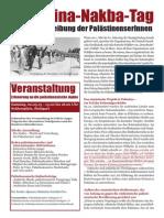 Stuttgart Palaestina Nakba Tag 2015