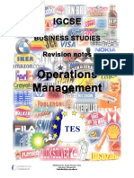 Operations Management Revision Notes