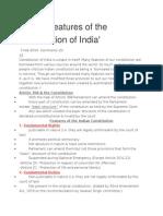 Salient Features of Indian Instit