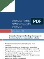 7-Pemilihan Alternatif2 Ekonomi