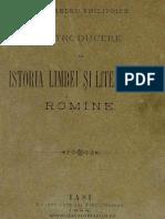 Introducere in Istoria Limbei Şi Literaturei Romîne Al. Philippide