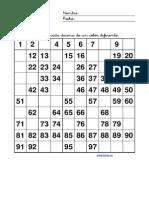 Fichas de Matematicas Cuadro Decenas